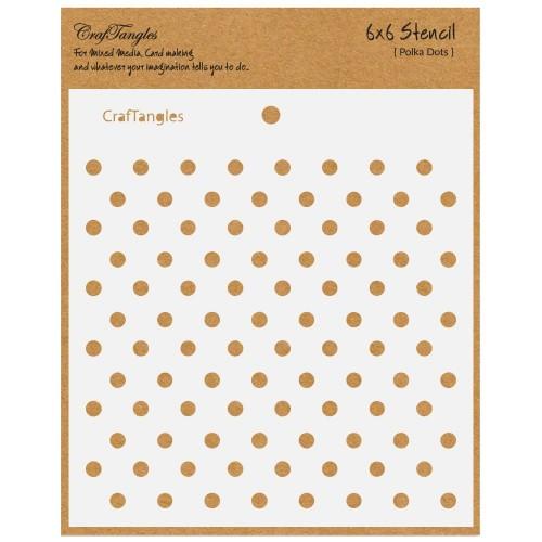 """CrafTangles 6""""x6"""" Stencil - Polka Dots"""
