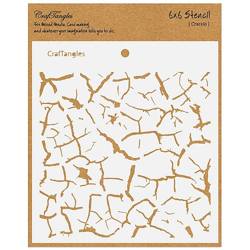 "CrafTangles 6""x6"" Stencil - Crackle"