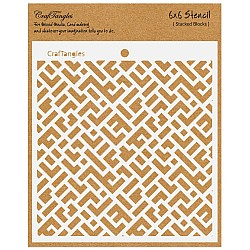 "CrafTangles 6""x6"" Stencil - Stacked Blocks"
