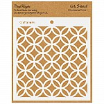 "CrafTangles 6""x6"" Stencil - Overlapping Circles"