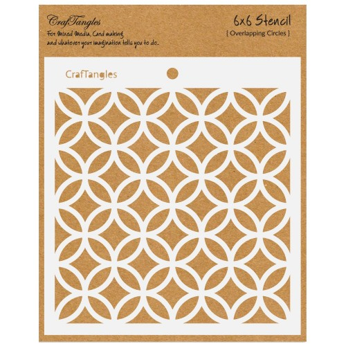 """CrafTangles 6""""x6"""" Stencil - Overlapping Circles"""