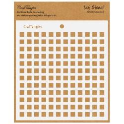 "CrafTangles 6""x6"" Stencil - Simply Squares"