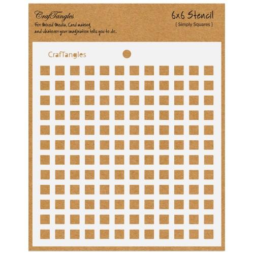 CrafTangles 6x6 Stencil - Simply Squares