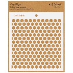 "CrafTangles 6""x6"" Stencil - Beehive"