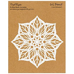 "CrafTangles 6""x6"" Stencil - Lace Reloaded"