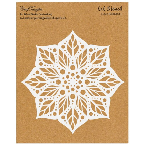 CrafTangles 6x6 Stencil - Lace Reloaded