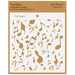 "CrafTangles 6""x6"" Stencil - Musical Notes"