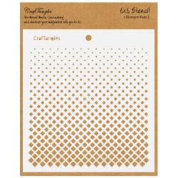 """CrafTangles 6""""x6"""" Stencil - Diamond Fade"""