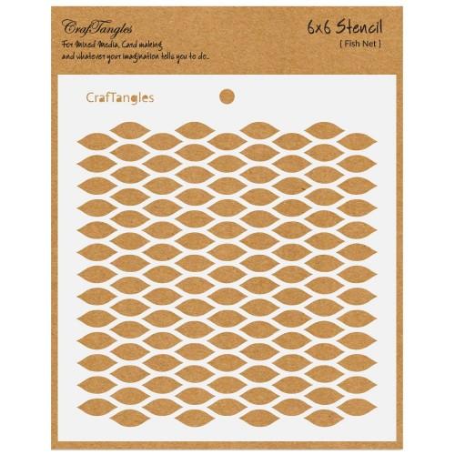 """CrafTangles 6""""x6"""" Stencil - Fish Net"""
