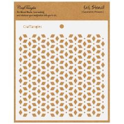 """CrafTangles 6""""x6"""" Stencil - Geometric Flowers"""