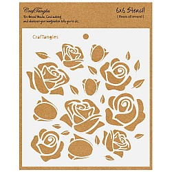 "CrafTangles 6""x6"" Stencil - Roses all Around"