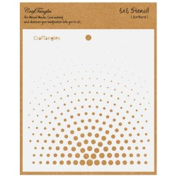 "CrafTangles 6""x6"" Stencil - Sunburst"