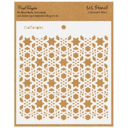 "CrafTangles 6""x6"" Stencil - Geometric Bliss"