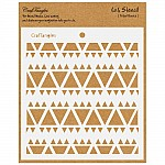 CrafTangles 6x6 Stencil - Tribal Basics