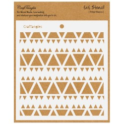 "CrafTangles 6""x6"" Stencil - Tribal Basics"