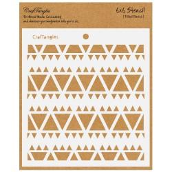 """CrafTangles 6""""x6"""" Stencil - Tribal Basics"""
