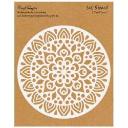 """CrafTangles 6""""x6"""" Stencil - Diwali Lace"""