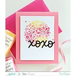 "CrafTangles 6""x6"" Stencil - Floral Heart Reloaded"
