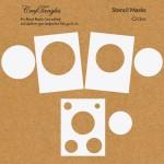 CrafTangles Stencil Masks - Circles (Masking Stencils - Set of 6 stencils)