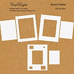 CrafTangles Stencil Masks - Rectangles (Masking Stencils - Set of 6 stencils)
