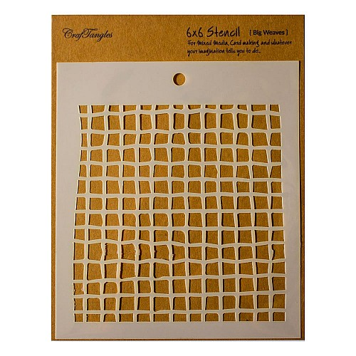 "CrafTangles 6""x6"" Stencil - Big Weaves"