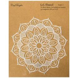 """Lace - CrafTangles 6""""x6"""" Stencil"""