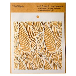 "CrafTangles 6""x6"" Stencil - Leafy Background"