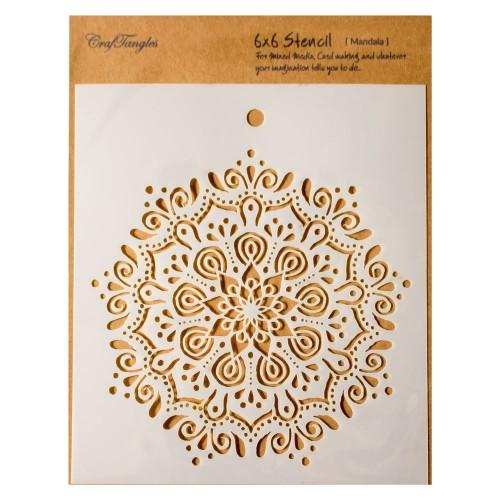 """CrafTangles 6""""x6"""" Stencil - Mandala"""