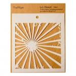 CrafTangles 6x6 Stencil - Rays