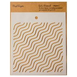 """CrafTangles 6""""x6"""" Stencil - Ripples"""