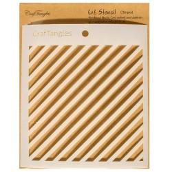 "Stripes - CrafTangles 6""x6"" Stencil"