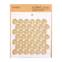 """CrafTangles 6""""x6"""" Stencil - Braid Pattern"""