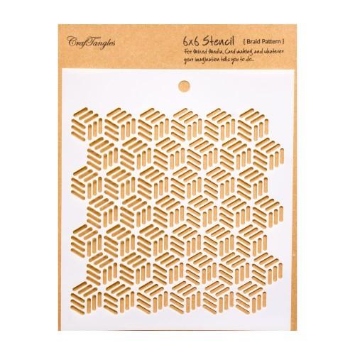 CrafTangles 6x6 Stencil - Braid Pattern
