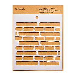 "CrafTangles 6""x6"" Stencil - Bricks"