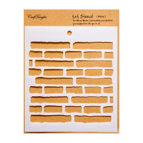 "CrafTangles 6""x6"" Stencil - Bricks"