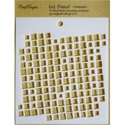 "CrafTangles 6""x6"" Stencil - Chequered"