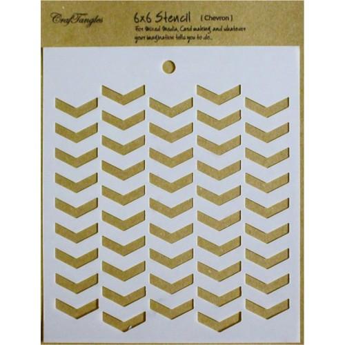 """CrafTangles 6""""x6"""" Stencil - Chevron"""