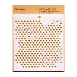 """CrafTangles 6""""x6"""" Stencil - Dots"""