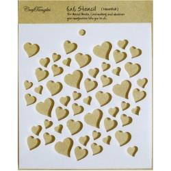 "CrafTangles 6""x6"" Stencil - Heartfull"