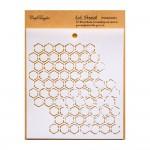 "CrafTangles 6""x6"" Stencil - Honeycomb"