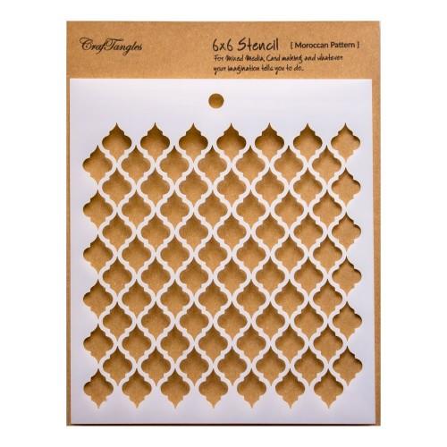 "CrafTangles 6""x6"" Stencil - Moroccan Pattern"
