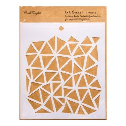 "CrafTangles 6""x6"" Stencil - Mosaic"