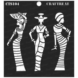 "CrafTreat 6""x6"" Stencil - African Models"