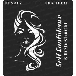 "CrafTreat 6""x6"" Stencil - Confident Woman"