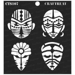 "CrafTreat 6""x6"" Stencil - Congo Mask"