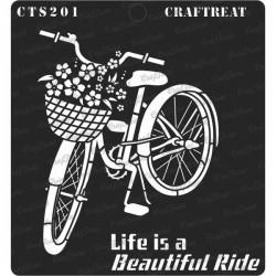 "CrafTreat 6""x6"" Stencil - Life is a Beautiful Ride"