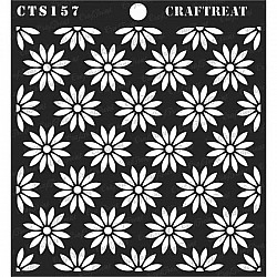 "CrafTreat 6""x6"" Stencil - Daisy Background"