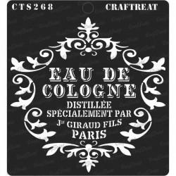 """CrafTreat 6""""x6"""" Stencil - Eau De Cologne"""