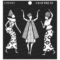 "CrafTreat 6""x6"" Stencil - Egyptians"