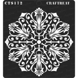 "CrafTreat 6""x6"" Stencil - Flourish Doily"